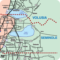NorthEast Central Florida Map