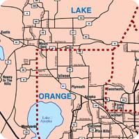 NorthWest Central Florida Map